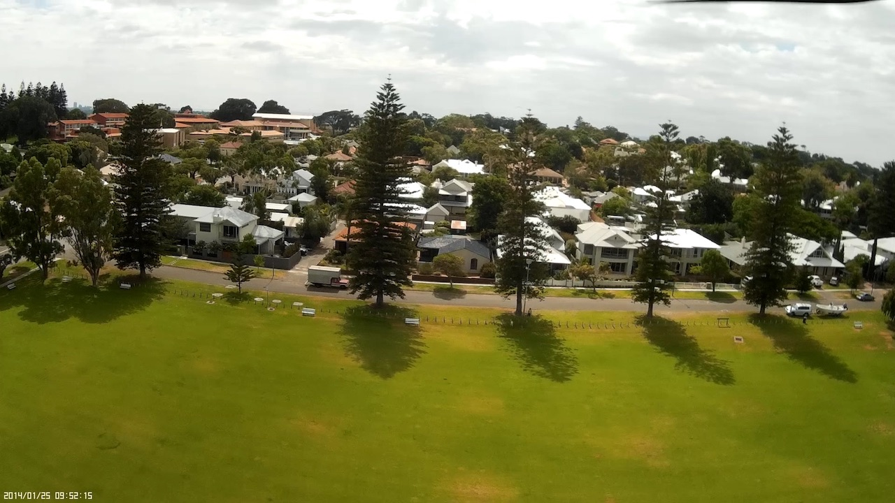 View from above Davis Oval in Mosman Park