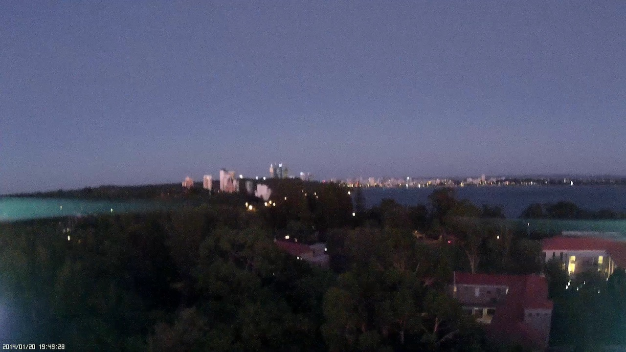View of Perth from UWA at dusk